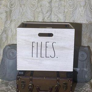 "**SOLD On Mercari**Rae Dunn ""FILES"" File Cart"